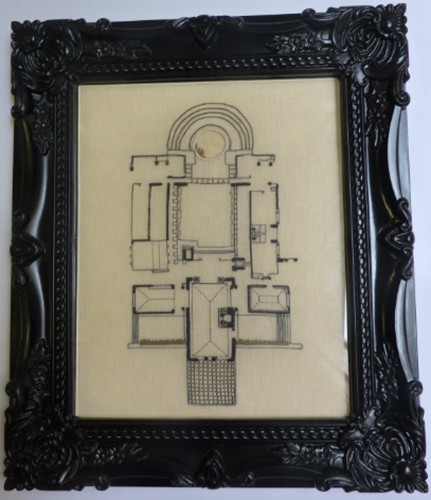Traditional Highly Commended-Jenny O'Sullivan Hollyhock House (framed)